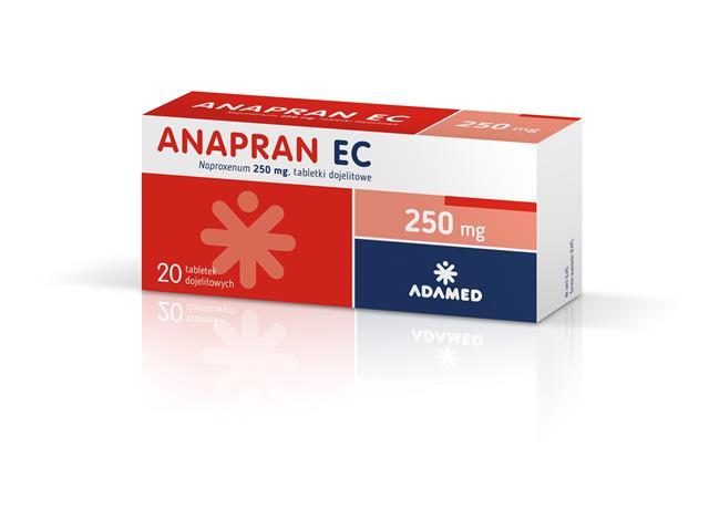 Anapran EC interakcje ulotka tabletki dojelitowe 0,25 g 20 tabl.