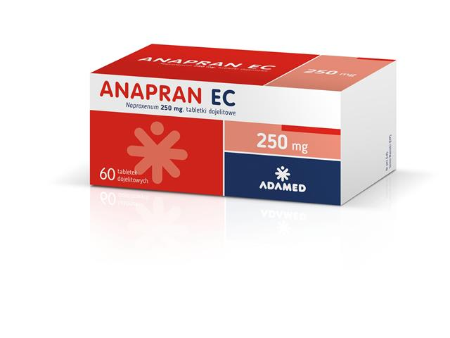 Anapran EC interakcje ulotka tabletki dojelitowe 0,25 g 60 tabl.