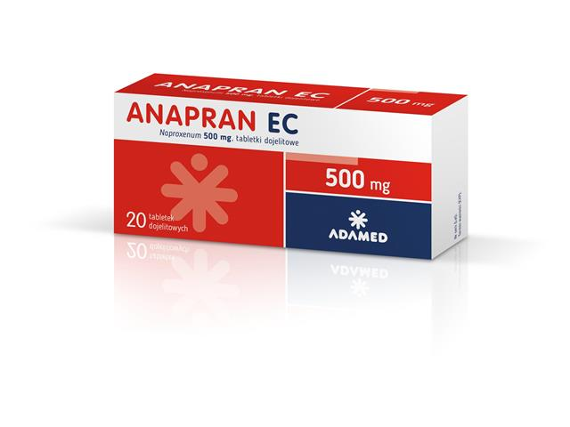Anapran EC interakcje ulotka tabletki dojelitowe 0,5 g 20 tabl.