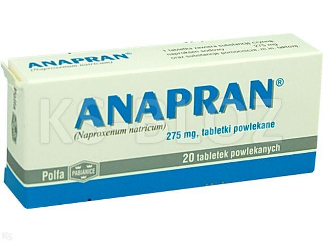 Anapran interakcje ulotka tabletki powlekane 0,275 g 20 tabl.