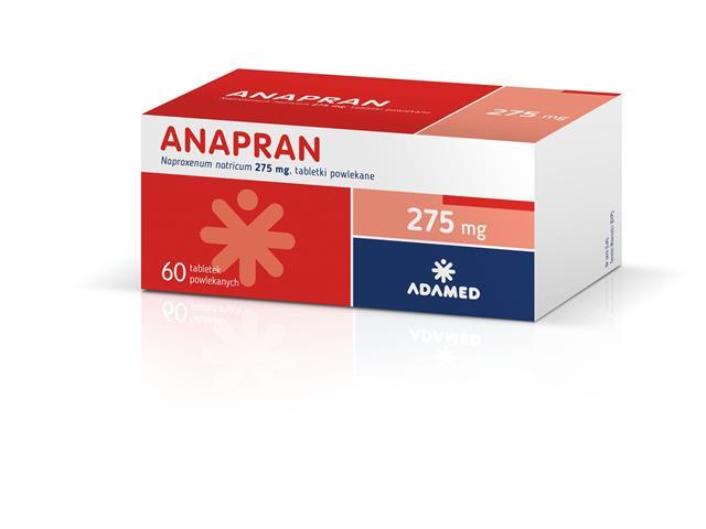Anapran interakcje ulotka tabletki powlekane 0,275 g 60 tabl.