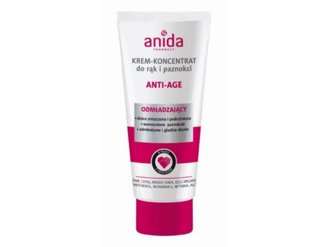 ANIDA Krem-Koncentrat d/rąk i paznokci Anti Age interakcje ulotka   100 ml