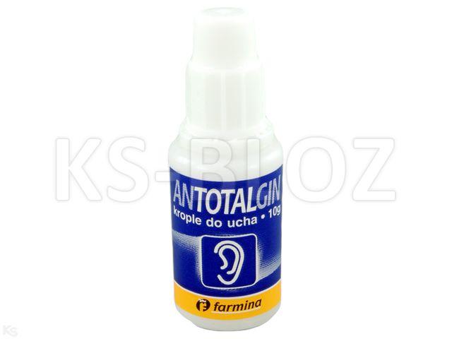 Antotalgin 10% interakcje ulotka krople do uszu  10 g