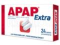 Apap Extra interakcje ulotka tabletki powlekane 0,5g+0,065g 24 tabl.