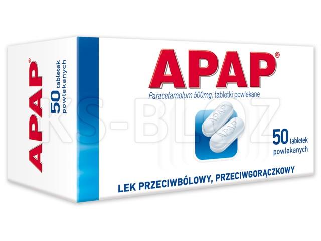 Apap interakcje ulotka tabletki powlekane 0,5 g 50 tabl.