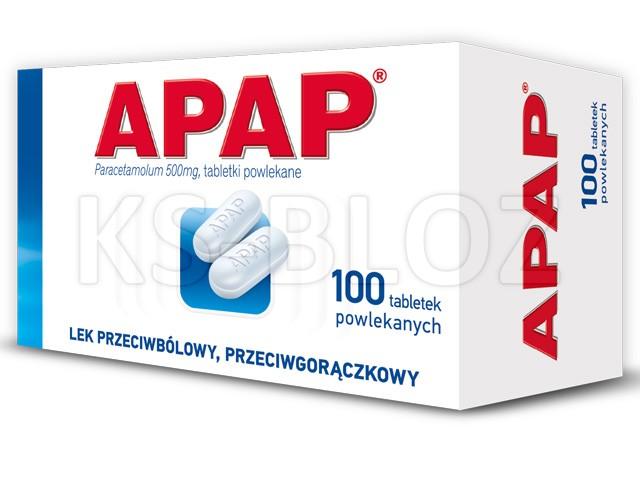 Apap interakcje ulotka tabletki powlekane 0,5 g 100 tabl.