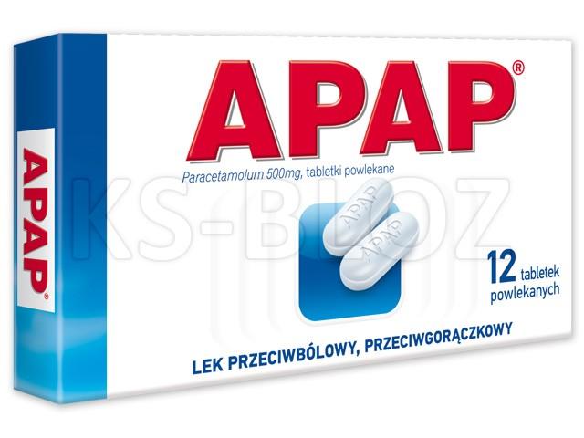 Apap interakcje ulotka tabletki powlekane 0,5 g 12 tabl.