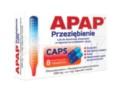 Apap Przeziębienie CAPS interakcje ulotka kapsułki twarde 0,5g+6,1mg 8 kaps.