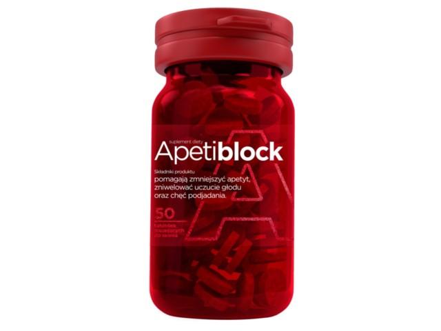 Apetiblock interakcje ulotka tabletki musujące do ssania  50 tabl.   pojemnik