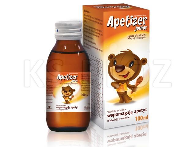 APETIZER (JUNIOR) Syrop dla dzieci interakcje ulotka   100 ml