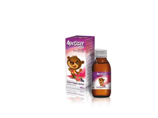 APETIZER Junior Syrop o smaku malinowo-porzeczkowym interakcje ulotka   100 ml