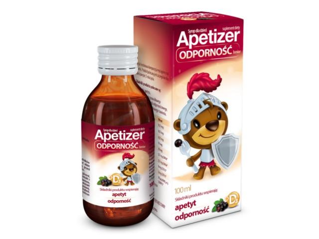 Apetizer Odporność Junior syrop dla dzieci interakcje ulotka płyn  100 ml