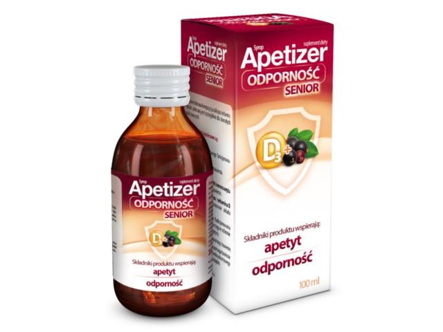 Apetizer Odporność Senior syrop interakcje ulotka płyn  100 ml