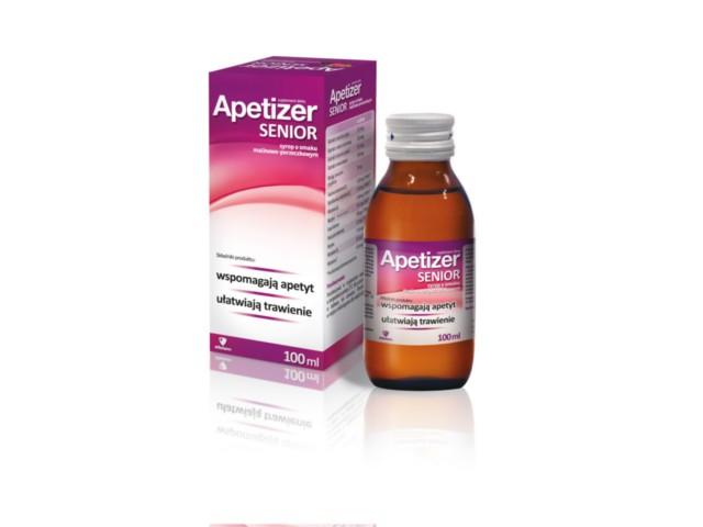 Apetizer Senior o smaku malinowo-porzeczkowym interakcje ulotka syrop  100 ml
