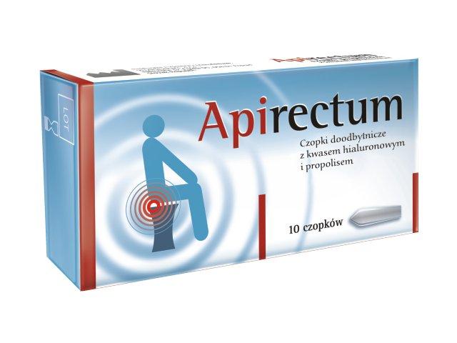 Apirectum Czopki propolisowe z kw.hialuron. interakcje ulotka czopki doodbytnicze  10 czop.