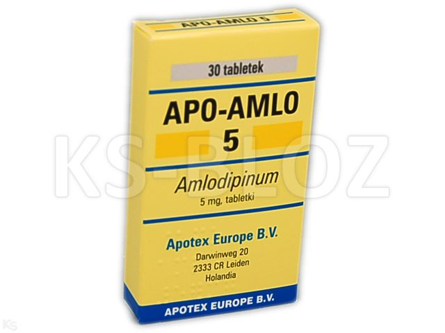 Apo-Amlo 5 interakcje ulotka tabletki 5 mg 30 tabl.