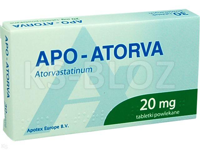 Apo-Atorva interakcje ulotka tabletki powlekane 0,02 g 30 tabl.