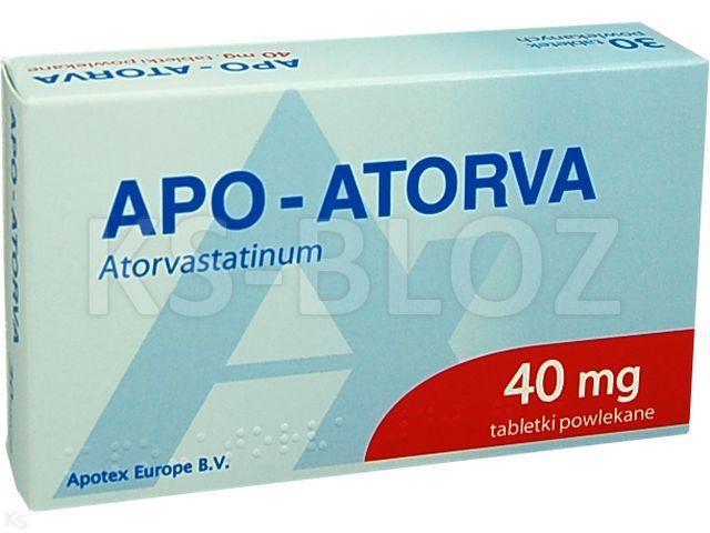 Apo-Atorva interakcje ulotka tabletki powlekane 0,04 g 30 tabl. | 3 blist.po 10 szt.