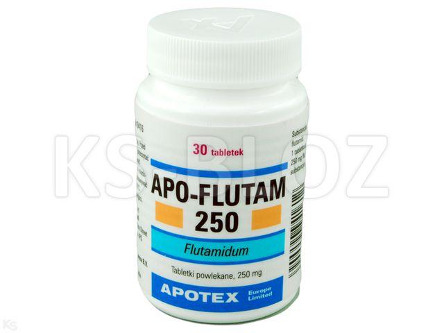 Apo-Flutam interakcje ulotka tabletki powlekane 0,25 g 30 tabl.