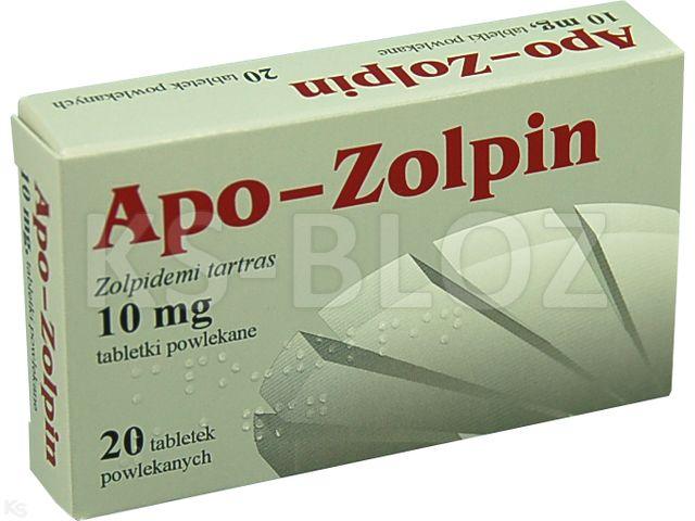Apo-Zolpin interakcje ulotka tabletki powlekane 0,01 g 20 tabl.