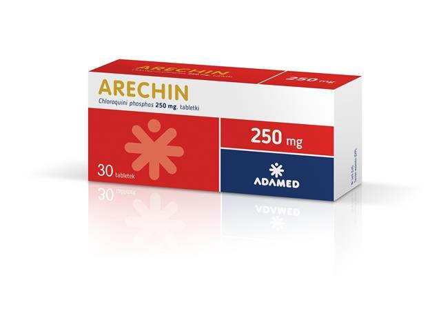 Arechin interakcje ulotka tabletki 0,25 g 30 tabl.