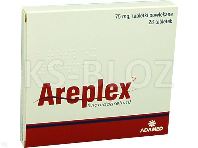 Areplex interakcje ulotka tabletki powlekane 0,075 g 28 tabl.