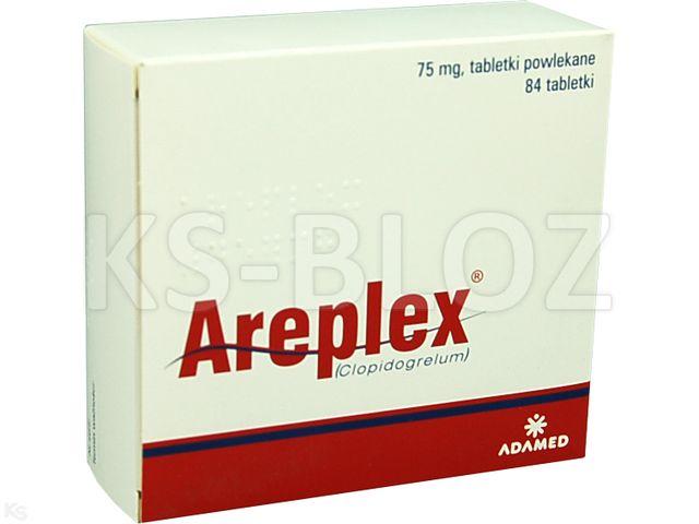 Areplex interakcje ulotka tabletki powlekane 0,075 g 84 tabl.