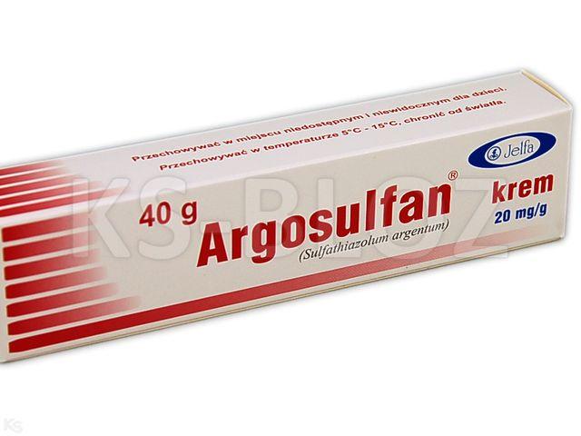 Argosulfan interakcje ulotka krem 0,02 g/g 40 g
