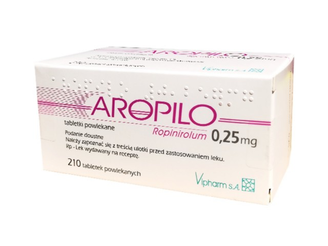 Aropilo interakcje ulotka tabletki powlekane 0,25 mg 210 tabl.