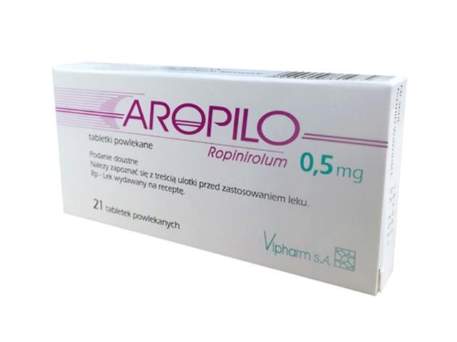 Aropilo interakcje ulotka tabletki powlekane 0,5 mg 21 tabl.