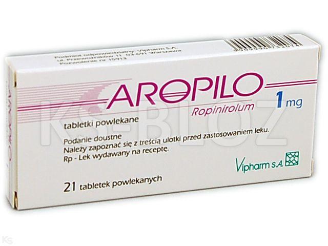 Aropilo interakcje ulotka tabletki powlekane 1 mg 21 tabl.