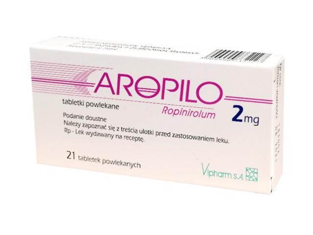 Aropilo interakcje ulotka tabletki powlekane 2 mg 21 tabl.