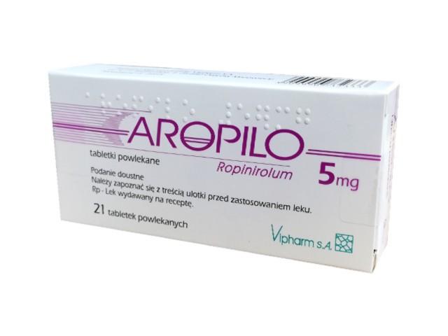 Aropilo interakcje ulotka tabletki powlekane 5 mg 21 tabl.