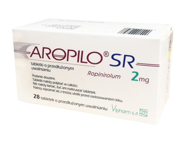 Aropilo SR interakcje ulotka tabletki o przedłużonym uwalnianiu 2 mg 28 tabl.