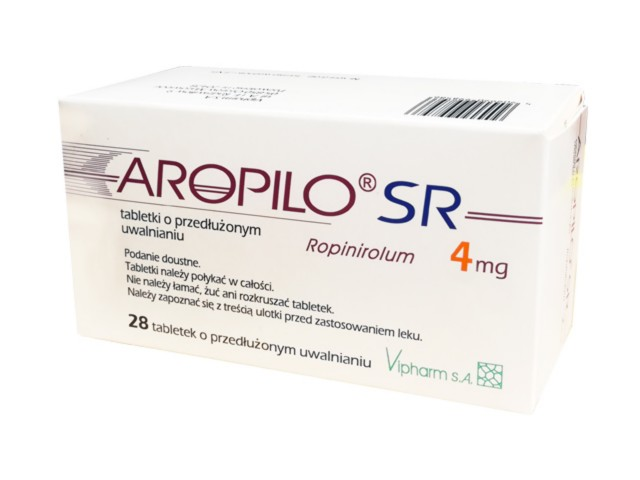 Aropilo SR interakcje ulotka tabletki o przedłużonym uwalnianiu 4 mg 28 tabl.