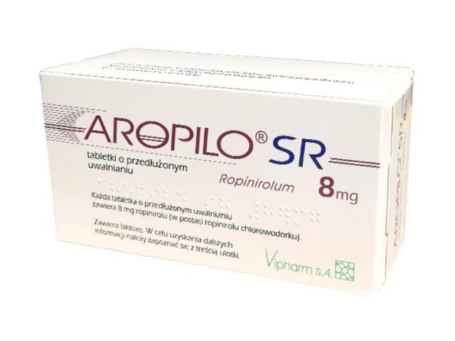 Aropilo SR interakcje ulotka tabletki o przedłużonym uwalnianiu 8 mg 28 tabl.
