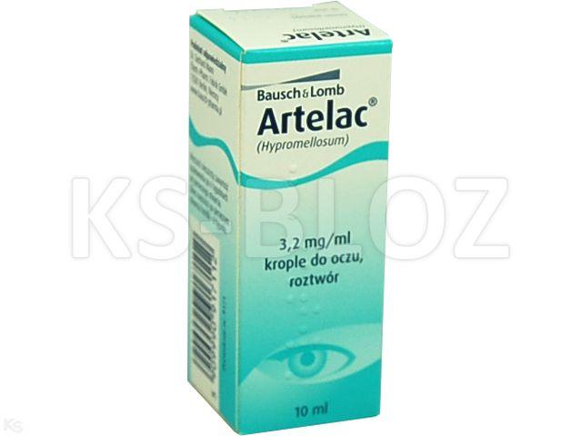 Artelac interakcje ulotka krople do oczu, roztwór 3,2 mg/ml 10 ml