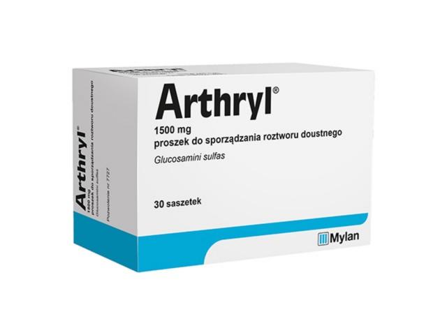 Arthryl interakcje ulotka proszek do sporządzania roztworu doustnego 1,5 g 30 sasz.