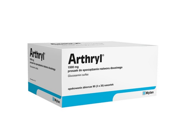 Arthryl interakcje ulotka proszek do sporządzania roztworu doustnego 1,5 g 90 sasz.