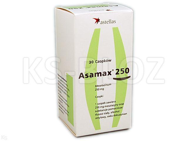Asamax 250 interakcje ulotka czopki doodbytnicze 0,25 g 30 czop. | 5 blist.po 6 szt.