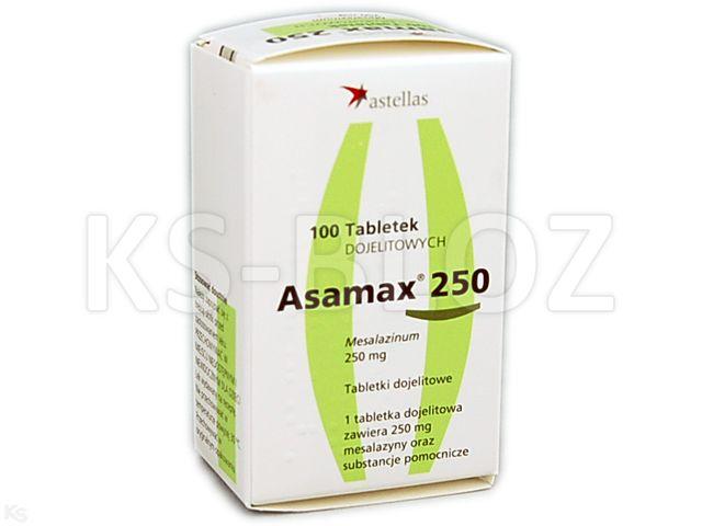 Asamax 250 interakcje ulotka tabletki dojelitowe 0,25 g 100 tabl.