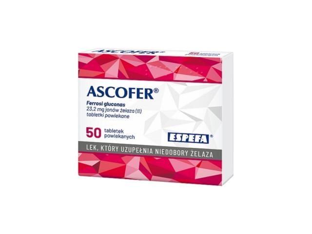 Ascofer interakcje ulotka tabletki powlekane 0,2 g 50 tabl.