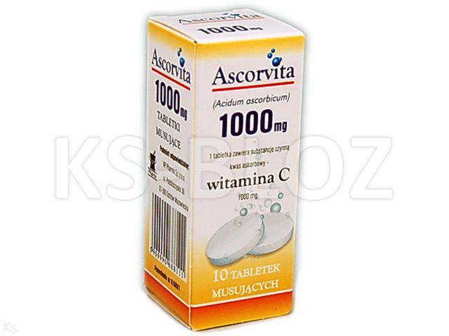 Ascorvita interakcje ulotka tabletki musujące 1 g 10 tabl.