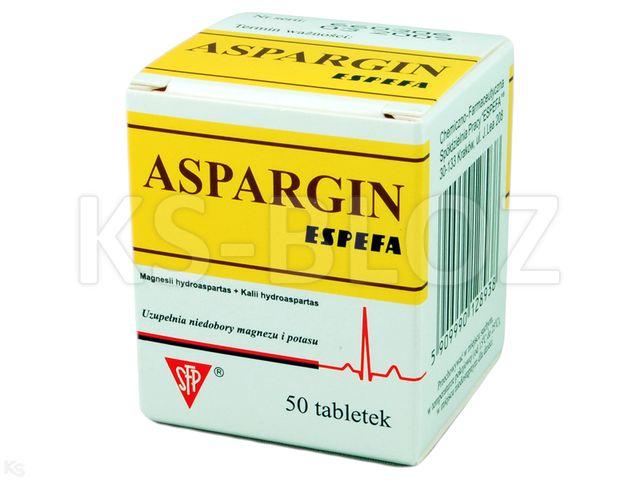 Aspar Espefa interakcje ulotka tabletki 0,017g+0,054g 50 tabl.