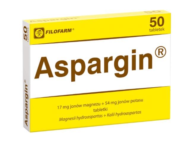 Aspargin interakcje ulotka tabletki 0,017g+0,054g 50 tabl.