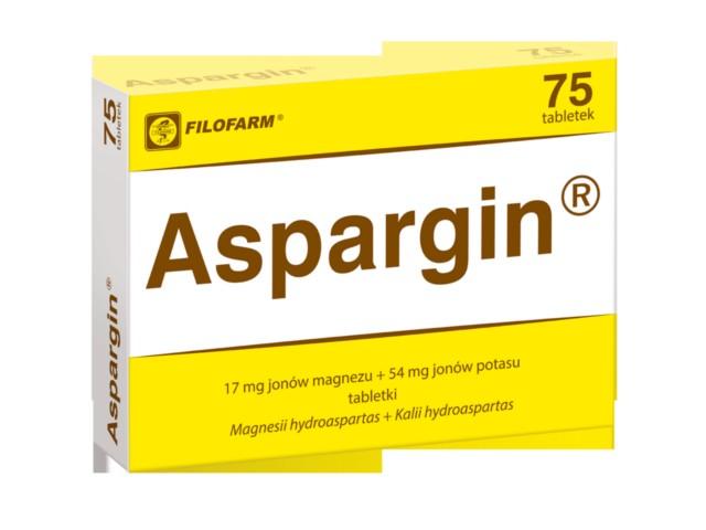 Aspargin interakcje ulotka tabletki 0,017g+0,054g 75 tabl.