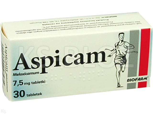 Aspicam Bio (Aspicam) interakcje ulotka tabletki 7,5 mg 30 tabl.