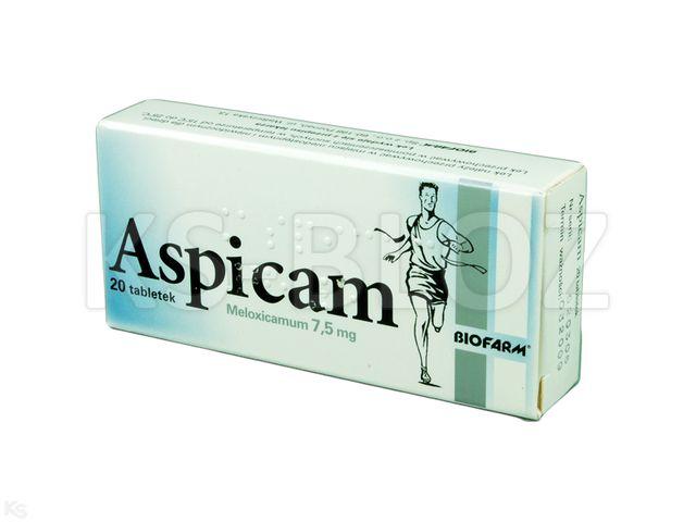 Aspicam Bio interakcje ulotka tabletki 7,5 mg 20 tabl.