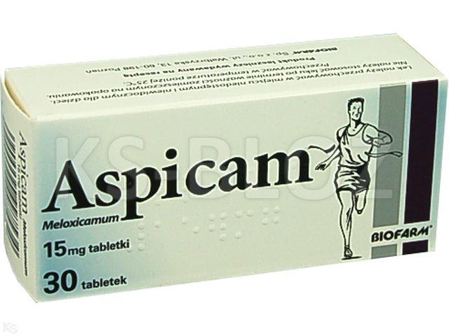 Aspicam interakcje ulotka tabletki 0,015 g 30 tabl.