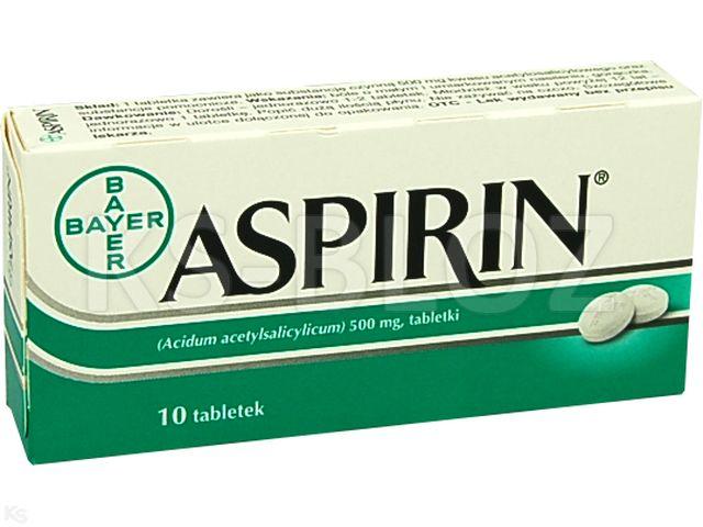Aspirin interakcje ulotka tabletki 0,5 g 10 tabl.